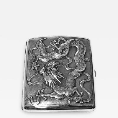 Antique Chinese Export Silver Cigarette Case TC for Tuck Chang C 1900