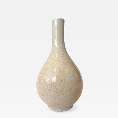Antique Chinese Monochrome Crackle Porcelain Vase