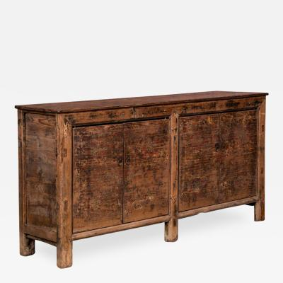 Antique Chinese Pine Sideboard Buffet