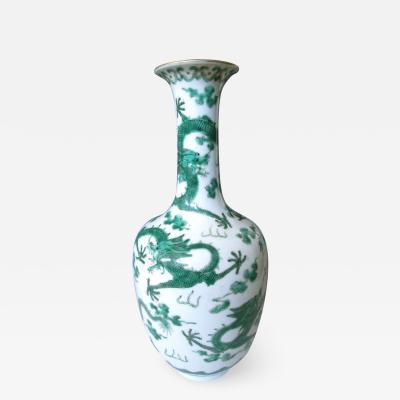 Antique Chinese Porcelain Vase with Dragons