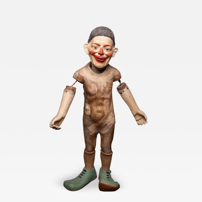 Antique Circus Clown with poseable arms and caracterful smile