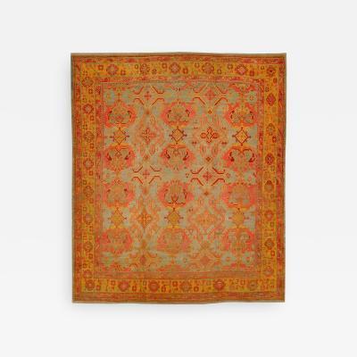Antique Colorful Oushak Rug