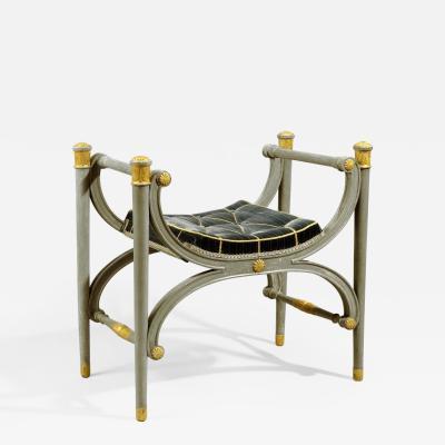 Antique Danish Gustavian Period Decorated Stool Bench Seat