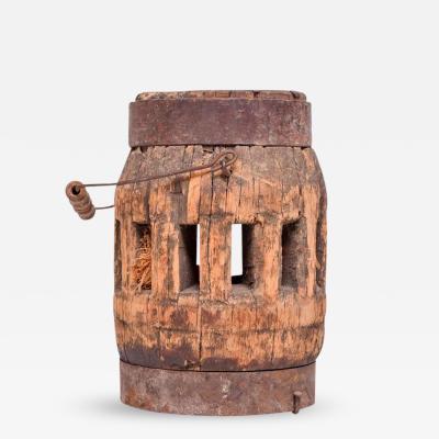 Antique Decorative Wood Wheel Base
