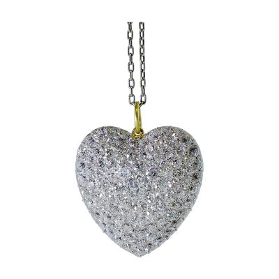 Antique Diamond Heart Pendant Necklace