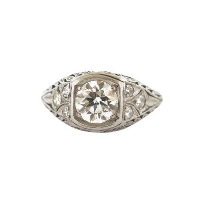 Antique Diamond and Filigree Ring