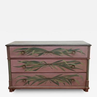 Antique Directoire Style Painted Chest of Drawers