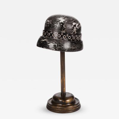 Antique Doll Hat Mold Black