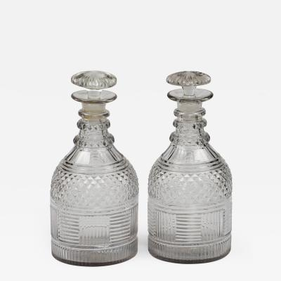 Antique English Cut Glass Decanters