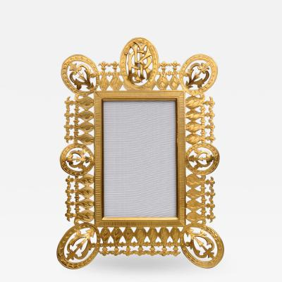 Antique English Gilded Picture Frame
