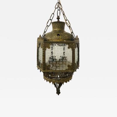 Antique English Gilt Bronze Lantern