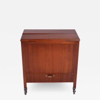 Antique English Pop Up Drinks Cabinet