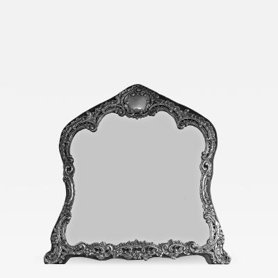 Antique English Sterling Dressing Table Mirror Birmingham 1898 H Matthews