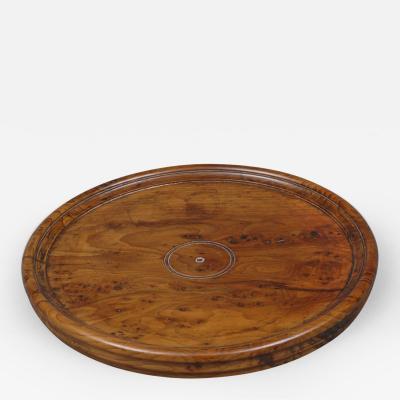 Antique English Yew Wood Tray Circa 1880