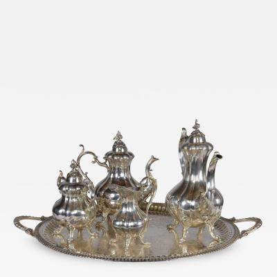 Antique English style Silver Plated Steel Tea Set
