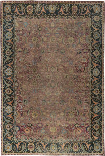 Antique Esfahan Rug