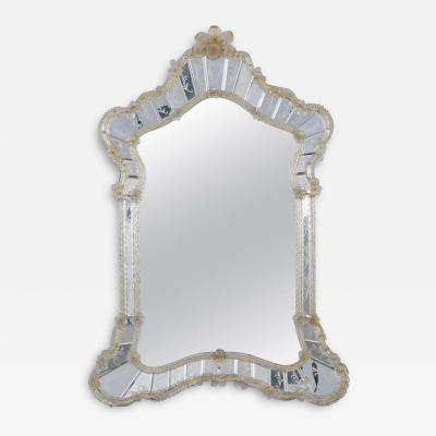 Antique Etching Italian Murano Wall Mirror
