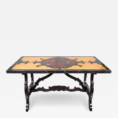 Antique Faux Marble Painted Table