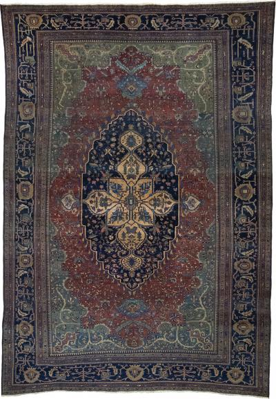Antique Feraghan Sarouk Carpet