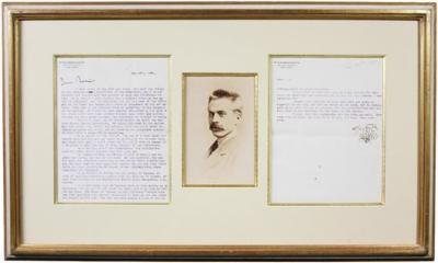 Antique Framed Signed Typed Letter From Stanford White to Frederick MacMonnies