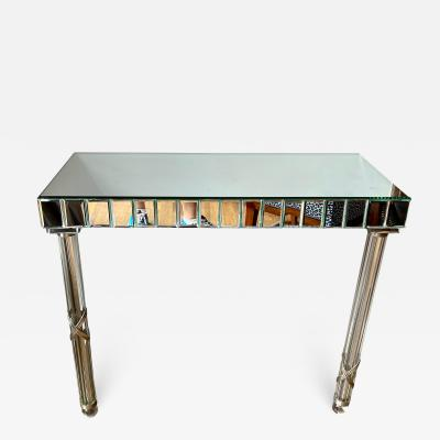Antique French Art Deco Mirrored Console Table