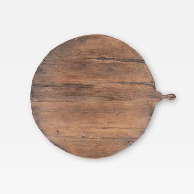 Antique French Round Bread Board
