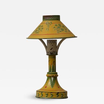 Antique French Tole Night Light Circa 1900
