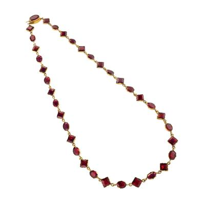 Antique Garnet and Gold Necklace