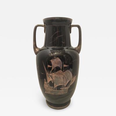 Antique Glass Nautical Vase