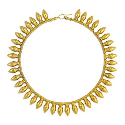 Antique Gold Amphora Fringe Necklace with Vatican Marks