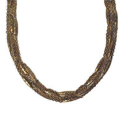 Antique Gold Muff Chain English c 1890