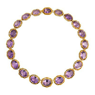 Antique Gold and Amethyst Rivi re Necklace