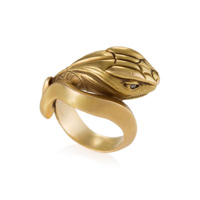Antique Gold and Diamond Serpent Ring