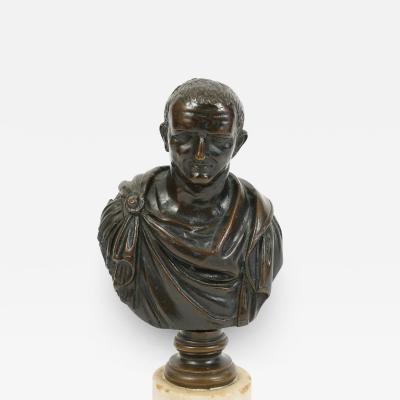 Antique Grand Tour Brnze Bust of Cesar