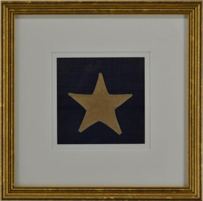 Antique Hand Sewn Star From Civil War 36 Star Flag