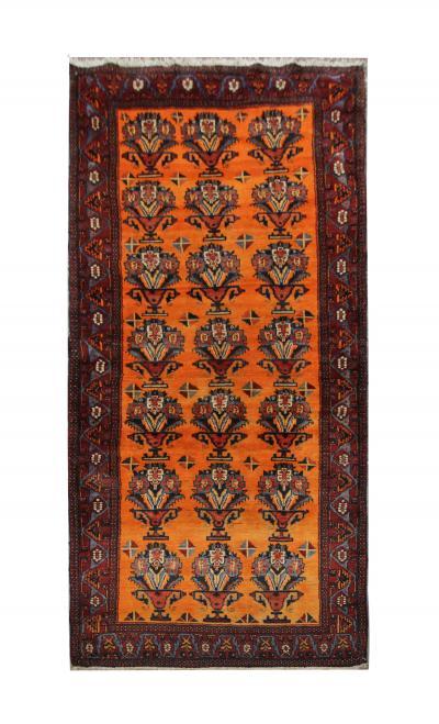 Antique Handmade Afshar Tribe Persian Rug Orange Wool Rug