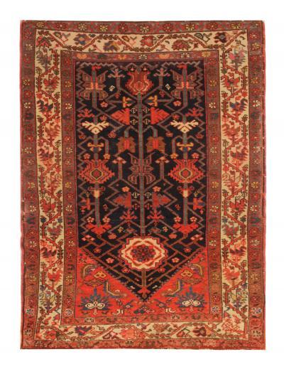 Antique Handmade Caucasian Kazak Rug Oriental Wool Rug 104x148cm