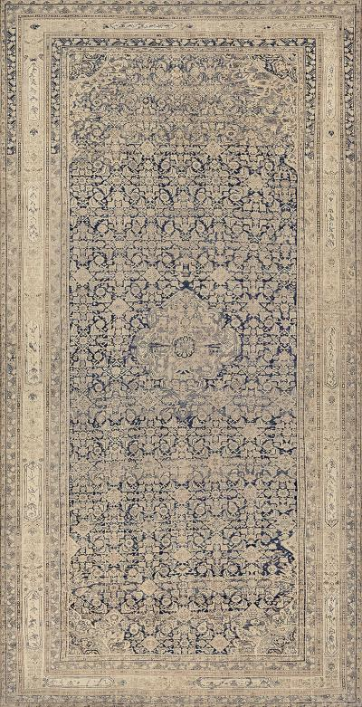Antique Handwoven Persian Malayer Wool Rug