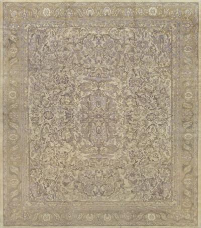Antique Handwoven Wool Agra Rug