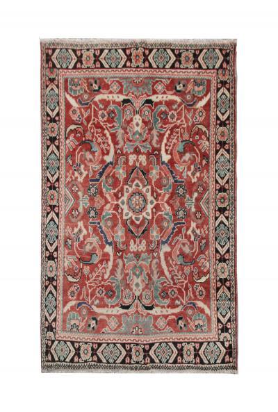 Antique Handwoven Wool Area Rug Persian Mahal Area Rug
