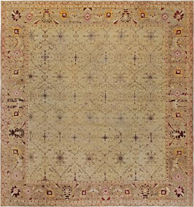 Antique Indian Agra Rug Size Adjusted