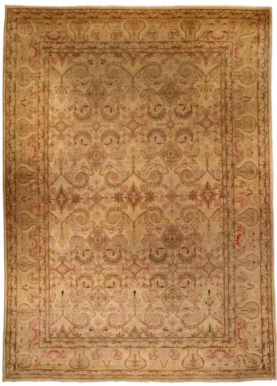 Antique Indian Amritsar Carpet size adjusted