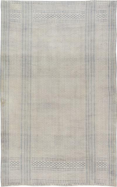 Antique Indian Cotton Flat weave Carpet