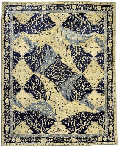 Antique Indian Lahore Carpet