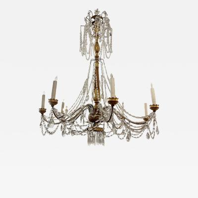 Antique Italian Giltwood Chandelier Therien Collection
