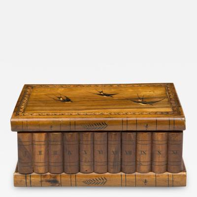 Antique Italian Grand Tour Olivewood Book Box