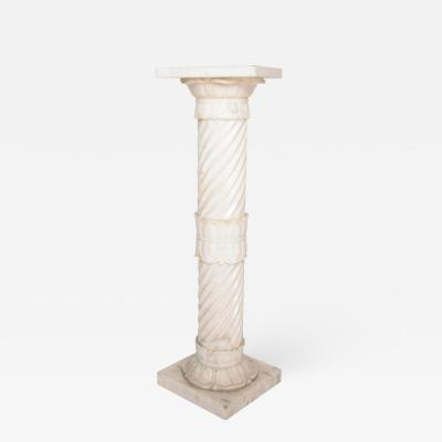 Antique Italian Pedestal Marble Table