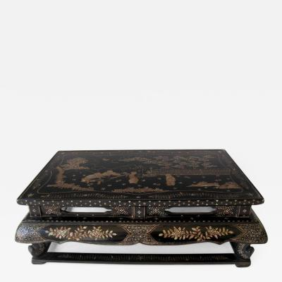 Antique Japanese Inlaid Lacquer Stand
