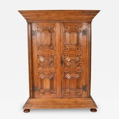Antique Kas or Armoire Dutch Colonial Baroque 19th Century