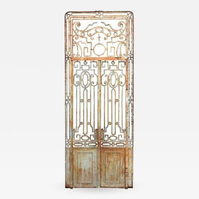 Antique Large Wrought Iron Gate Doors